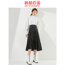 skirt Spring 2021 XS,S,M,L,XL Black (velvet), black (Galaxy) Mid length dress Natural waist 18-24 years old IG9291. 91% (inclusive) - 95% (inclusive) Hstyle / handu clothing house polyester fiber