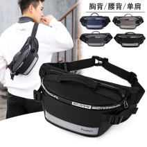 Men's bag Pocket oxford Other / other brand new leisure time motion zipper soft Small yes mobile phone bag Solid color nothing Single root youth other polyester fiber Color contrast Soft handle set-in pocket