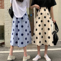 skirt Summer 2021 S,M,L Apricot, white, blue longuette commute High waist A-line skirt Type A 18-24 years old 61008M 51% (inclusive) - 70% (inclusive) polyester fiber Korean version