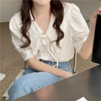 shirt Picture color Average size Summer 2021 polyester fiber 51% (inclusive) - 70% (inclusive) Short sleeve commute Regular 18-24 years old Straight cylinder Korean version 6498F