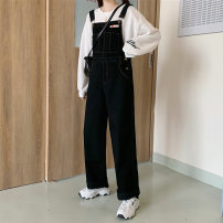 Jeans Autumn 2020 black S,M,L trousers High waist rompers routine 18-24 years old Cotton denim 6691M 51% (inclusive) - 70% (inclusive)