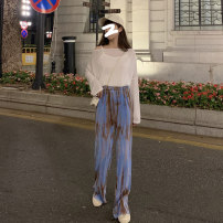 Fashion suit Summer 2021 Average size White sunscreen, black sunscreen, blue pants, black pants 18-25 years old 8107M 51% (inclusive) - 70% (inclusive) polyester fiber