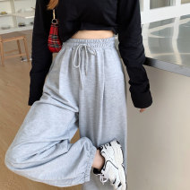 Casual pants Gray, black M,L,XL Summer 2020 trousers loose  High waist commute Thin money 18-24 years old 31% (inclusive) - 50% (inclusive) Korean version cotton
