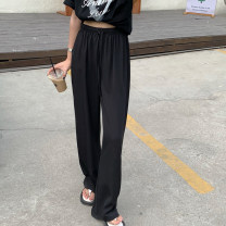 Casual pants Apricot, yellow, black Average size Summer 2021 trousers Wide leg pants High waist commute routine 18-24 years old 51% (inclusive) - 70% (inclusive) 471M Korean version cotton