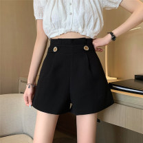 Casual pants White, black S,M,L Summer 2021 shorts Wide leg pants High waist commute routine 18-24 years old 51% (inclusive) - 70% (inclusive) 51123M Korean version cotton