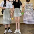 skirt Summer 2020 S,M,L Purple skirt, green skirt, blue skirt, purple skirt, green skirt, blue skirt Short skirt commute High waist skirt lattice 18-24 years old 3031M 51% (inclusive) - 70% (inclusive) polyester fiber Korean version