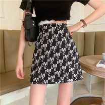 skirt Summer 2021 S,M,L,XL Picture color Short skirt commute High waist A-line skirt Type A 18-24 years old 7207X 51% (inclusive) - 70% (inclusive) polyester fiber Korean version