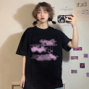 T-shirt White long clouded bear, black long clouded bear, white short clouded bear, black short clouded bear Average size Summer 2020 Short sleeve Crew neck easy Regular commute cotton 96% and above 18-24 years old Korean version 2830H