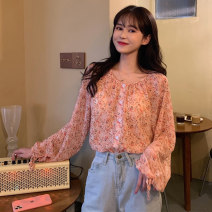 Lace / Chiffon Summer 2021 Graph color Average size Long sleeves commute singleton  easy Regular Decor bishop sleeve 18-24 years old 2001M Korean version 71% (inclusive) - 80% (inclusive) polyester fiber