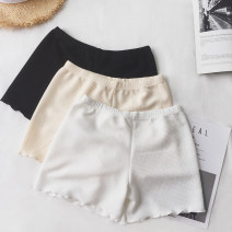 Leggings Summer of 2018 White, black, apricot Average size Thin money shorts 18-24 years old polyester fiber 96% and above