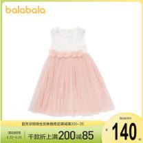 Dress Yellow 0433 female Bala 90cm,100cm,110cm,120cm,130cm Polyamide fiber (nylon) 100% summer leisure time Long sleeves other nylon A-line skirt other 12 months, 2 years old, 3 years old, 4 years old, 5 years old, 6 years old Chinese Mainland