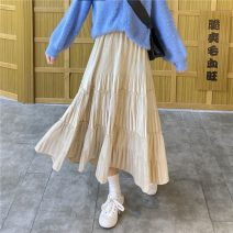 skirt Winter 2020 Average size Apricot, black Mid length dress Versatile High waist A-line skirt Type A 18-24 years old lym8737 31% (inclusive) - 50% (inclusive) Other / other