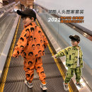 suit Reunion Wolf Orange [clk4229] light green [clk4229] [collection and purchase priority delivery] [tmall quality after-sales worry free] 100cm 110cm 120cm 130cm 140cm 150cm male spring and autumn Korean version Long sleeve + pants 2 pieces routine There are models in the real shooting Zipper shirt