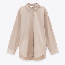 shirt Khaki Shirt XS,S,M,L polyester fiber 96% and above Long sleeves commute Regular Polo collar routine Solid color 25-29 years old Straight cylinder Button