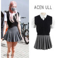 skirt Autumn 2020 S,M,L,XL White, gray, black Short skirt commute High waist Pleated skirt Solid color Type A 25-29 years old 51% (inclusive) - 70% (inclusive) other cotton fold