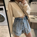 Jeans Summer 2021 Light blue, black S,M,L shorts High waist