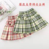 skirt It is recommended to wear less than 30 kg for 110, 40 kg for 120, 50 kg for 130, 60 kg for 140, 75 kg for 150 and 100 kg for 160 Plaid with safety pants skirt [half elastic waist], pink bow plaid skirt [full elastic waist], green bow plaid skirt [full elastic waist] Other / other female summer