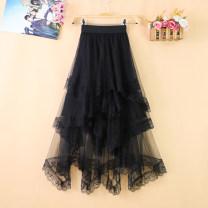 skirt Summer 2020 Average size (80-135 kg) Brown apricot black Mid length dress commute High waist Irregular Type A 25-29 years old ZYL20206 More than 95% Zeyalan polyester fiber Korean version Polyester 100%