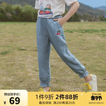 trousers Colorful pocket female 120cm 130cm 140cm 150cm 160cm 165cm summer Ninth pants Korean version There are models in the real shooting Jeans Leather belt middle-waisted other Don't open the crotch Other 100% Class B Summer 2021 Chinese Mainland Zhejiang Province Hangzhou