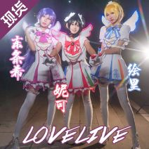 Cosplay women's wear suit goods in stock Over 14 years old Ll arcade clothing, bust 99-107cm custom, headdress, earrings, wings, bag wig set Animation, games 50. M, s, XL, one size fits all, customized Other Japan Lovely style, otaku Love Live! Gaoban is a fruit Cos clothing South bird