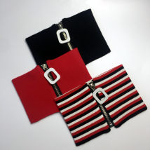 Scarf / silk scarf / Shawl cotton Black small square buckle color bar small square buckle red small square buckle Spring and autumn and winter currency Neckline decorate Europe and America Metal hanging 81% (inclusive) - 95% (inclusive) 0000