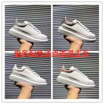 Low top shoes Cattle hide (except cattle suede) Frenulum Round head Sports and leisure shoes top layer leather The trend of youth daily Solid color Thick bottom spring and autumn Rubber foaming increase Adhesive shoes Youth (18-40 years old) without wearing make-up Middle heel (3-5cm) Korean version