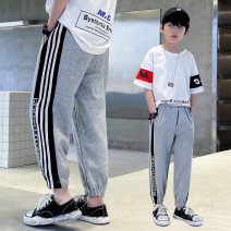 trousers Zaoyangtong male 120cm,130cm,140cm,150cm,160cm,170cm Grey [z380 sweatpants] No season trousers motion There are models in the real shooting Sports pants Leather belt middle-waisted cotton Don't open the crotch Cotton 83% pet 17% z380 Class B Chinese Mainland Zhejiang Province Huzhou City