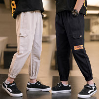 trousers Dream Bonnie male 120cm,130cm,140cm,150cm,160cm,170cm Black [3622], khaki [3622] summer Ninth pants leisure time There are models in the real shooting Overalls Leather belt middle-waisted cotton Don't open the crotch Cotton 100% Class B Chinese Mainland Zhejiang Province Huzhou City