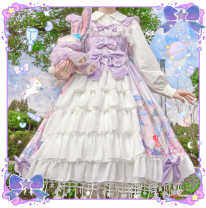 Dress Winter 2020 Gradient purple, gradient pink, gradient blue Average size Middle-skirt singleton  Sleeveless Sweet other High waist Princess Dress camisole 18-24 years old Type A Lolita