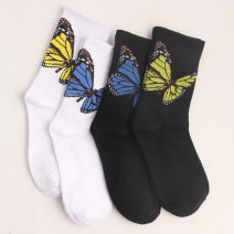 Socks / base socks / silk socks / leg socks lovers Average size 1 pair routine Middle cylinder Four seasons motion Cartoon animation cotton hygroscopic and sweat releasing jacquard weave Common crotch