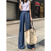 Women's large Spring 2020 blue XL (100-125 kg), 2XL (125-150 kg), 3XL (150-180 kg), 4XL (180-210 kg) trousers thin 18-24 years old trousers