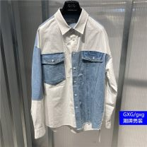 shirt Youth fashion GXG S,M,L,XL,2XL,3XL Decor routine Pointed collar (regular) Long sleeves easy Other leisure spring GC103603A