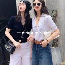 T-shirt White, khaki, dark blue Two, three, four, five Summer 2021 Short sleeve Polo collar cotton 71% (inclusive) - 85% (inclusive) Pretend to be amashizheng 5499127-1T30722-003