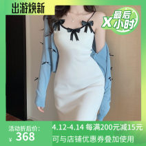 Dress Summer 2021 Average size Short skirt singleton  High waist A-line skirt camisole 18-24 years old 91% (inclusive) - 95% (inclusive)