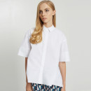 shirt U-WHITE WHITE 2 4 6 8 Summer 2017 cotton 96% and above elbow sleeve commute Regular Polo collar Solid color 25-29 years old Ports LV8B037CWD032 Cotton 96% polyurethane elastic fiber (spandex) 4%