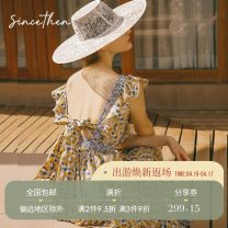Dress Spring 2020 Picture color (in stock), picture color (7 days for delivery) S,M,L longuette singleton  commute High waist Decor 18-24 years old Type A since then Retro CQ190944 More than 95% cotton