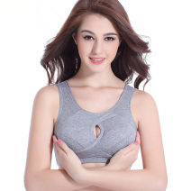Bras Vest style Fixed shoulder strap No buckle Wireless  Full cup Young women motion Thin mould cup Sponge mat Solid color motion Glossy surface cotton More than 95% Cotton fabric Sponge cotton cotton cotton