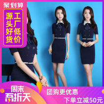 Dress Summer 2016 Short sleeve dress, long sleeve dress S,M,L,XL,XXL,XXXL Middle-skirt Short sleeve Crew neck middle-waisted Solid color A-line skirt routine Others 25-29 years old Qinhe love Three dimensional decorative bandage zipper with bow stitching ZDX_ Q519