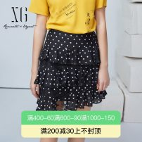 skirt Summer 2021 32/150/XS 34/155/S 36/160/M 38/165/L 40/170/XL black Short skirt commute Natural waist Cake skirt Type A 30-34 years old XG203034B592 31% (inclusive) - 50% (inclusive) XG / snow song polyester fiber Printed lace lady Polyester 50.3% cotton 49.7%