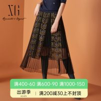 skirt Autumn 2020 34/155/S 36/160/M 38/165/L 40/170/XL Decor longuette commute Natural waist A-line skirt other Type A 30-34 years old XF303022B306 More than 95% XG / snow song polyester fiber Stitching zipper Retro Polyester 100%