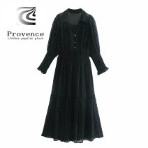 Dress Autumn 2020 black XS,S,M,L street 18-24 years old More than 95% other polyester fiber Europe and America