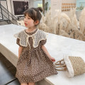 Dress coffee female Class two 100cm (recommended height is about 100), 110cm (recommended height is 100-110), 120cm (recommended height is 110-120), 130cm (recommended height is 120-130), 140cm (recommended height is 130-140) Other 100% summer Korean version Short sleeve Broken flowers other other