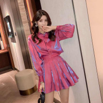 Fashion suit Spring 2021 S,M,L,XL,XXL Purple red, ocean blue 18-25 years old 81% (inclusive) - 90% (inclusive) polyester fiber