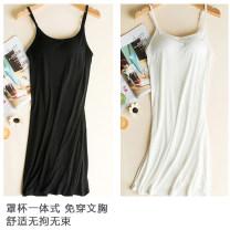 Vest sling Spring 2017 White, gray, black, pink M,L,XL,2XL singleton  Medium length easy Versatile camisole Solid color 91% (inclusive) - 95% (inclusive) modal  The edge of silk