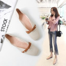 Low top shoes 35 36 37 38 39 40 41 42 43 Xizi agreement Brown apricot Square head Flat bottom Superfine fiber Shallow mouth Flat heel (1cm or less) PU