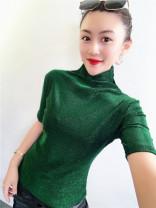 T-shirt Blue [twinkle] short sleeves, green [twinkle] short sleeves, red [twinkle] short sleeves, gold [twinkle] short sleeves, silver [twinkle] short sleeves, purple [twinkle] short sleeves, black [twinkle] short sleeves S,M,L,XL,2XL,3XL Autumn 2020 Short sleeve High collar Self cultivation Regular