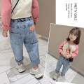 trousers Other / other female Denim spring and autumn trousers leisure time There are models in the real shooting Jeans Leather belt middle-waisted cotton Don't open the crotch Cotton 80% other 20% 2 years old, 3 years old, 4 years old, 5 years old, 6 years old, 7 years old, 8 years old