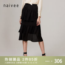 skirt Spring 2020 155/62A/S 160/66A/M 165/70A/L 170/74A/XL Black Beige Middle-skirt commute High waist Irregular Type A 25-29 years old More than 95% Naivie polyester fiber Asymmetry Ol style Polyester fiber 99% polyurethane elastic fiber (spandex) 1%