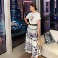 skirt Spring 2021 S,M,L,XL Decor Mid length dress commute High waist A-line skirt other Type A LM20BQ054 More than 95% other Meiyazi cotton Tie dye, button, zipper Simplicity