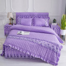 Bedding Set / four piece set / multi piece set Polyester (polyester fiber) other heart-shaped 128x70 Others 4 pieces 40 1.2m (4 ft) bed, 1.5m (5 ft) bed, 1.8m (6 ft) bed, 2.0m (6.6 ft) bed, others Bed skirt Qualified products Korean style Thermal storage